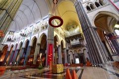 Όμορφο εσωτερικό της βασιλικής της Notre Dame de Λα Treille Στοκ Εικόνες