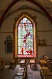 Όμορφο εσωτερικό της εκκλησίας του ST Peter και του ST Paul στο Έχτερναχ, η παλαιότερη πόλη στο Λουξεμβούργο στοκ φωτογραφία
