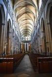 Όμορφο εσωτερικό του καθολικού καθεδρικού ναού στη Βιέννη, Γαλλία στοκ εικόνες