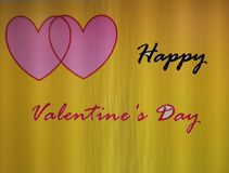 Όμορφο ευτυχές valentine& x27 έτσι απόσπασμα ημέρας με το κίτρινο υπόβαθρο Στοκ Φωτογραφίες