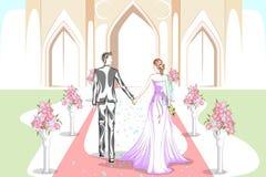 Όμορφο ζεύγος στη γαμήλια τελετή Στοκ Εικόνες