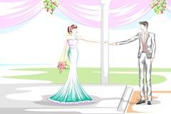 Όμορφο ζεύγος στη γαμήλια τελετή Στοκ Εικόνα