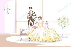 Όμορφο ζεύγος στη γαμήλια τελετή Στοκ φωτογραφία με δικαίωμα ελεύθερης χρήσης