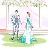 Όμορφο ζεύγος στη γαμήλια τελετή Στοκ φωτογραφίες με δικαίωμα ελεύθερης χρήσης