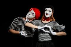 Όμορφο ζεύγος των mimes στοκ φωτογραφία με δικαίωμα ελεύθερης χρήσης