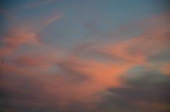 όμορφο ζωηρόχρωμο ηλιοβασίλεμα Στοκ Εικόνες