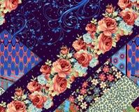 Όμορφο ζωηρόχρωμο σχέδιο υποβάθρου και λουλουδιών στοκ εικόνα με δικαίωμα ελεύθερης χρήσης