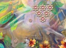 Όμορφο ζωηρόχρωμο υπόβαθρο και floral σχέδιο στοκ φωτογραφία