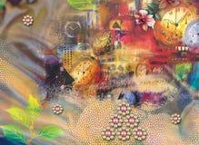 Όμορφο ζωηρόχρωμο υπόβαθρο και floral σχέδιο στοκ εικόνα