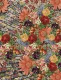 Όμορφο ζωηρόχρωμο ψηφιακό υφαντικό σχέδιο τυπωμένων υλών στοκ φωτογραφία με δικαίωμα ελεύθερης χρήσης