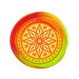 Όμορφο ζωηρόχρωμο mandala Στοιχείο σχεδίου για το φεστιβάλ των χρωμάτων - Holi Στοκ φωτογραφία με δικαίωμα ελεύθερης χρήσης
