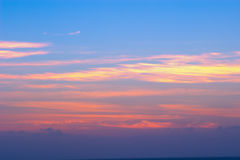 όμορφο ηλιοβασίλεμα Καλιφόρνιας Στοκ Εικόνες