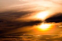 όμορφο ηλιοβασίλεμα ουρανού 1 ανασκόπηση καλύπτει το νεφελώδη ουρανό Στοκ φωτογραφία με δικαίωμα ελεύθερης χρήσης