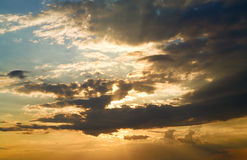 όμορφο ηλιοβασίλεμα ου Στοκ Φωτογραφία