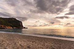 Όμορφο ηλιοβασίλεμα σε Alanya στοκ εικόνες με δικαίωμα ελεύθερης χρήσης