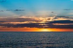 Όμορφο ηλιοβασίλεμα στην αποβάθρα του ST Kilda, Μελβούρνη, Αυστραλία στοκ φωτογραφίες με δικαίωμα ελεύθερης χρήσης