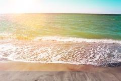 Όμορφο ηλιοβασίλεμα στην παραλία της νότιας Βενετίας Φλώριδα στοκ φωτογραφία με δικαίωμα ελεύθερης χρήσης