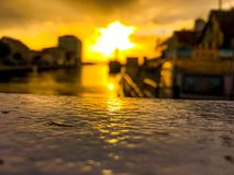 Όμορφο ηλιοβασίλεμα στην Πολωνία στοκ εικόνες