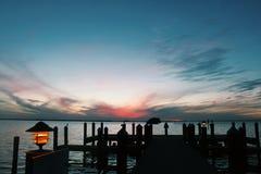 Όμορφο ηλιοβασίλεμα στο Μαϊάμι Φλώριδα στοκ εικόνες με δικαίωμα ελεύθερης χρήσης