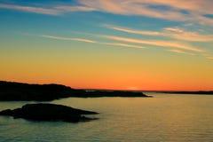 όμορφο ηλιοβασίλεμα Στοκ φωτογραφίες με δικαίωμα ελεύθερης χρήσης