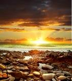 όμορφο ηλιοβασίλεμα στοκ εικόνα