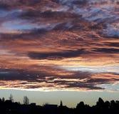 Όμορφο ηλιοβασίλεμα Trelew Chubut Στοκ Εικόνα