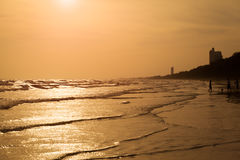 όμορφο ηλιοβασίλεμα θάλασσας Στοκ φωτογραφία με δικαίωμα ελεύθερης χρήσης