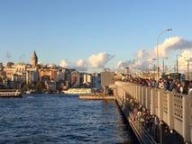 Όμορφο ηλιοβασίλεμα και ψαράς έτσι Στοκ Εικόνες