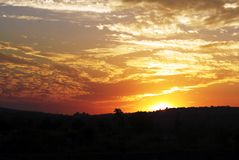 όμορφο ηλιοβασίλεμα ου Στοκ Φωτογραφίες