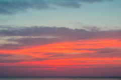 Όμορφο ηλιοβασίλεμα πέρα από τη Μαύρη Θάλασσα το καλοκαίρι Στοκ φωτογραφίες με δικαίωμα ελεύθερης χρήσης