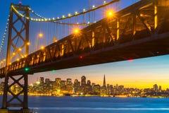 Όμορφο ηλιοβασίλεμα στον κόλπο του Σαν Φρανσίσκο Στοκ εικόνα με δικαίωμα ελεύθερης χρήσης