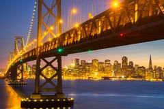 Όμορφο ηλιοβασίλεμα στον κόλπο του Σαν Φρανσίσκο Στοκ φωτογραφίες με δικαίωμα ελεύθερης χρήσης