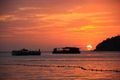 Όμορφο ηλιοβασίλεμα στο νησί Lipe Στοκ Φωτογραφίες