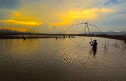 Όμορφο ηλιοβασίλεμα, Ταϊλάνδη Στοκ εικόνες με δικαίωμα ελεύθερης χρήσης