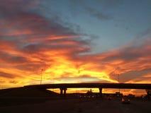 Όμορφο ηλιοβασίλεμα της Οκλαχόμα Στοκ φωτογραφία με δικαίωμα ελεύθερης χρήσης