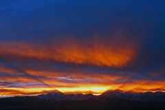 Όμορφο ηλιοβασίλεμα της χειμερινής Γιούτα Στοκ φωτογραφίες με δικαίωμα ελεύθερης χρήσης