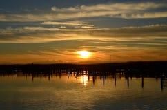 όμορφο ηλιοβασίλεμα Στοκ εικόνα με δικαίωμα ελεύθερης χρήσης