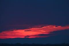 όμορφο ηλιοβασίλεμα Στοκ Φωτογραφία