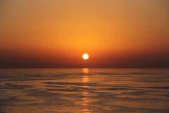 Όμορφο ηλιοβασίλεμα - Muscat, Ομάν Στοκ Εικόνα