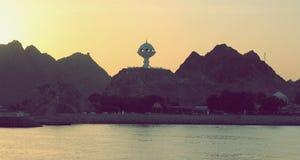 Όμορφο ηλιοβασίλεμα - Muscat, Ομάν Στοκ Φωτογραφίες