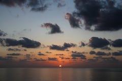 Όμορφο ηλιοβασίλεμα - Muscat, Ομάν Στοκ Φωτογραφία