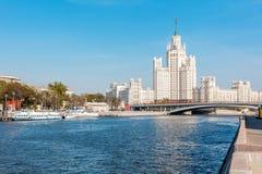 Όμορφο θερινό τοπίο πόλεων, η πρωτεύουσα της Ρωσίας Μόσχα, τ Στοκ φωτογραφία με δικαίωμα ελεύθερης χρήσης