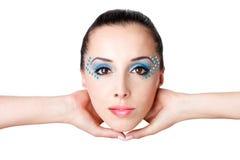 όμορφο θηλυκό μόδας προσώπ Στοκ εικόνες με δικαίωμα ελεύθερης χρήσης
