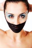 όμορφο θηλυκό μόδας προσώπ Στοκ φωτογραφία με δικαίωμα ελεύθερης χρήσης