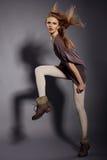 όμορφο θηλυκό πρότυπο πορτρέτο Στοκ φωτογραφίες με δικαίωμα ελεύθερης χρήσης