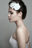 Όμορφο θηλυκό με τη νυφική σύνθεση Στοκ φωτογραφίες με δικαίωμα ελεύθερης χρήσης