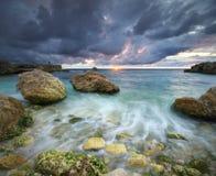 Όμορφο θυελλώδες seascape Στοκ Εικόνα