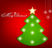 όμορφο διάνυσμα δέντρων απεικόνισης Χριστουγέννων ανασκόπησης Στοκ Εικόνες