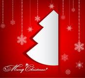 όμορφο διάνυσμα δέντρων απεικόνισης Χριστουγέννων ανασκόπησης Στοκ φωτογραφία με δικαίωμα ελεύθερης χρήσης