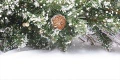 όμορφο διάνυσμα δέντρων απεικόνισης Χριστουγέννων ανασκόπησης Στοκ Εικόνα